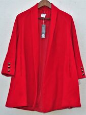Vintage BNWT  Womens Red Amari Pure New Wool Buttonless Coat Size 10