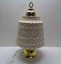 Vintage Lawnware Flower Pot Lamp Beaded Flower Retro RV-Camper-Patio