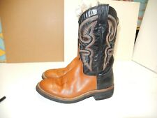 ROPER BOOT MENS WESTERN BOOTS BROWN BLACK SIZE 11 MADE IN SPAIN use 1 time .