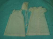 Handmade baptism christening dress, slip, hat heirloom technique 0-6 mo NEW #527