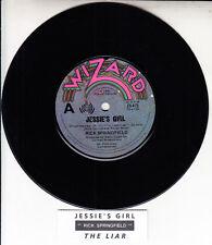 "RICK SPRINGFIELD  Jessie's Girl 7"" 45 rpm vinyl record + jukebox title strip"