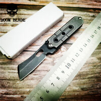 Folding Blade Knife Mini Pocket Wallet Keychain Knives Survival EDC Tool Knives