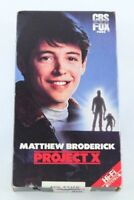 Project X Matthew Broderick VHS 80s CBS Fox Home Video 1987