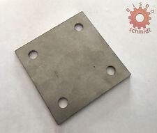 Ankerplatte 120x120x8 Eisenplatte Stahlplatte Eisen Stahl Platte Flacheisen 0032