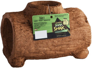 Snak Shak Edible Hideaway For Hamsters Gerbils Mice And Small Animals 3-in-1 NEW