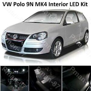DELUXE VW POLO MK4 9N 2001-2009 INTERIOR LED UPGRADE WHITE KIT XENON LIGHTS