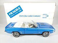 Danbury Mint 1969 Chevrolet SS Camaro Convertible Blue 1/24 Scale Diecast w/ Box
