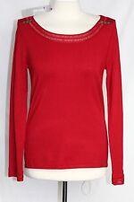Per Una - S/M - NWT - Super Soft Solid Red 73% Viscose Scoop Neck Sweater
