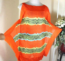 MISSONI Orange Knitted Rayon Kaftan Mini Dress 40 4 5 6