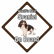 Non Personalised Dog On Board Car Safety Sign -World's Best King Charles Spaniel