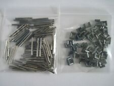 Lot 100 Thunderjet Track Connectors/Joiners and 50 New Metal Locks (Lot C)