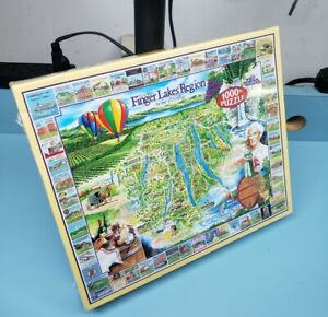 """New York State Finger Lakes Region 1000 Piece Jigsaw Puzzle 24""""x30"""" Wine Country"""