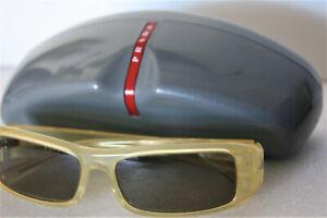 Prada Light Honey Frame Green 54mm Lens Sunglasses SPR-02E NEW