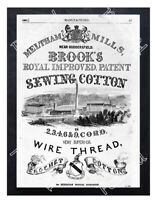 Historic Brook's Cotton Mills Ca 1850 Advertising Postcard