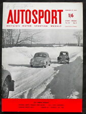 AUTOSPORT 27th FEBBRAIO 1959 * CANADESE INVERNALE RALLY *
