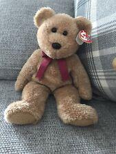 Lovely Retired 2002 TY Beanie Buddy Curly Bear