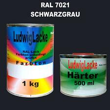 RAL 7021 Schwarzgrau 1,5 kg Acryllack glänzend mit Härter Lkwlack