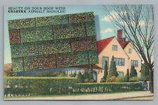 "Celotex Asphalt Shingles ""Beauty on your Roof"" LINEN ADVERTISING Rare Vintage"