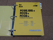 Komatsu PC100-6 PC100L-6, PC120-6, PC130-6 Excavator Service Shop Repair Manual