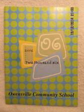 2006 Yearbook Owensville Community School IN Grades K-8, With Signatures