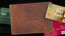 Herren Vintage Geldbörse ECHT Leder Geldbeutel Portemonnaie Braun - 7210W
