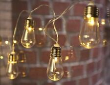 Kikkerland EDISON BULB STRING LIGHT 10 LED Illuminated Bulbs NIGHT LIGHT