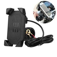 """Supporto Moto Manubrio USB Caricabatteria 4.7-6"""" Cellulare Smartphone GPS 360°"""