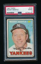 MICKEY MANTLE 1967 TOPPS #150 PSA 2 GOOD *NEW YORK YANKEES*