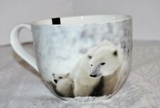 Portobello POLAR BEARS HAPPY HOLIDAY MUG NEW Cup Christmas BEARS Snow Coffee Tea