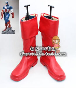 Captain America The First Avenger Steve Rogers Cosplay Shoes Boots