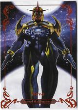 2018 Marvel Masterpieces Bianchi Legendary Orange Base Card 38 Nova 27 / 99