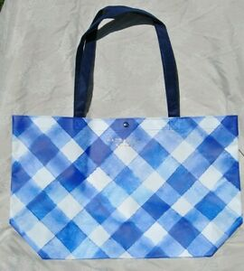 Bath & Body Works 2019 Blue Gingham Reusable Shopping/Tote Bag