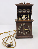 Vintage Spartus Corporation China Hutch Plug In Clock With Dishes Plastic Works