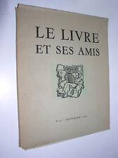 PAUL MASSONNET [DIRECTEUR-FONDATEUR] - LE LIVRE ET SES AMIS N°13 - NOVEMBRE 1946
