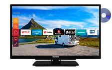 Telefunken 22 Zoll Fernseher Full HD Smart TV DVD Player 12V Alexa Prime Video