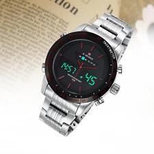 Naviforce Waterproof Stainless Steel LED Date Analog Digital Quartz Watch S&R TR