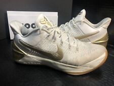Rare👍Nike ZOOM KOBE A.D. AD BIG STAGE HOME WHITE GOLD FINALS 852425-107 8.5