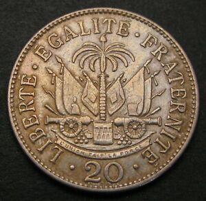 HAITI 20 Centimes 1907 (w) - Copper/Nickel - VF - 1142