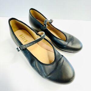 Bloch Size 8 Tap Shoe Black Dance Leather Strap Designer Performance Quality