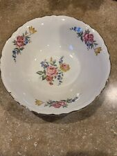 Beautiful Bowl With Roses And Other Flowers Unknown Brand No Markings