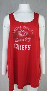Kansas City Chiefs NFL Women's Destressed Tank Top
