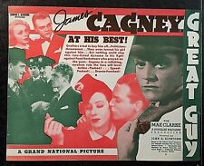 GREAT GUY 1936 MOVIE HERALD - JAMES CAGNEY