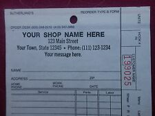 "2 Sutherland's ""Your Shop Name Here"" repair tags excellent condition Whimsical"