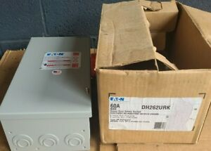 EATON CUTLER-HAMMER HEAVY DUTY SAFETY SWITCH DH262URK,2 POLE NON-FUSIBLE TYPE 3R