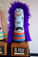 "GARY TAXALI  Designer Toy Circus Punk 15"" Canvas&Fake Fur Scary Scary PURPLE"