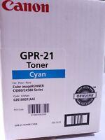 Canon GPR-21 Cyan Toner Cartridge 0259B001 Genuine New Sealed Box C4080 C4580