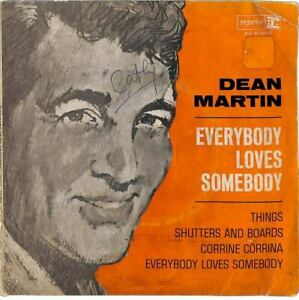 "Dean Martin - Everybody Loves Somebody - 7"" Record Single"