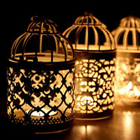Hollow Hanging Bird Cage Candle Holder Candlestick Lantern Wedding Xmas Decor