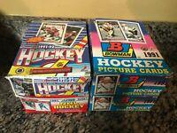 1991 BOWMAN SCORE HOCKEY SERIES 1 WAX BOX LOT x4 = 136 PACKS 1992 O-PEE-CHEE
