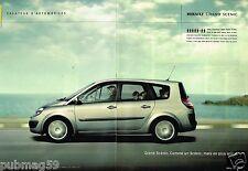 Publicité advertising 2004 (2 pages) Renault Grand Scénic